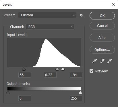 Levels in Photoshop