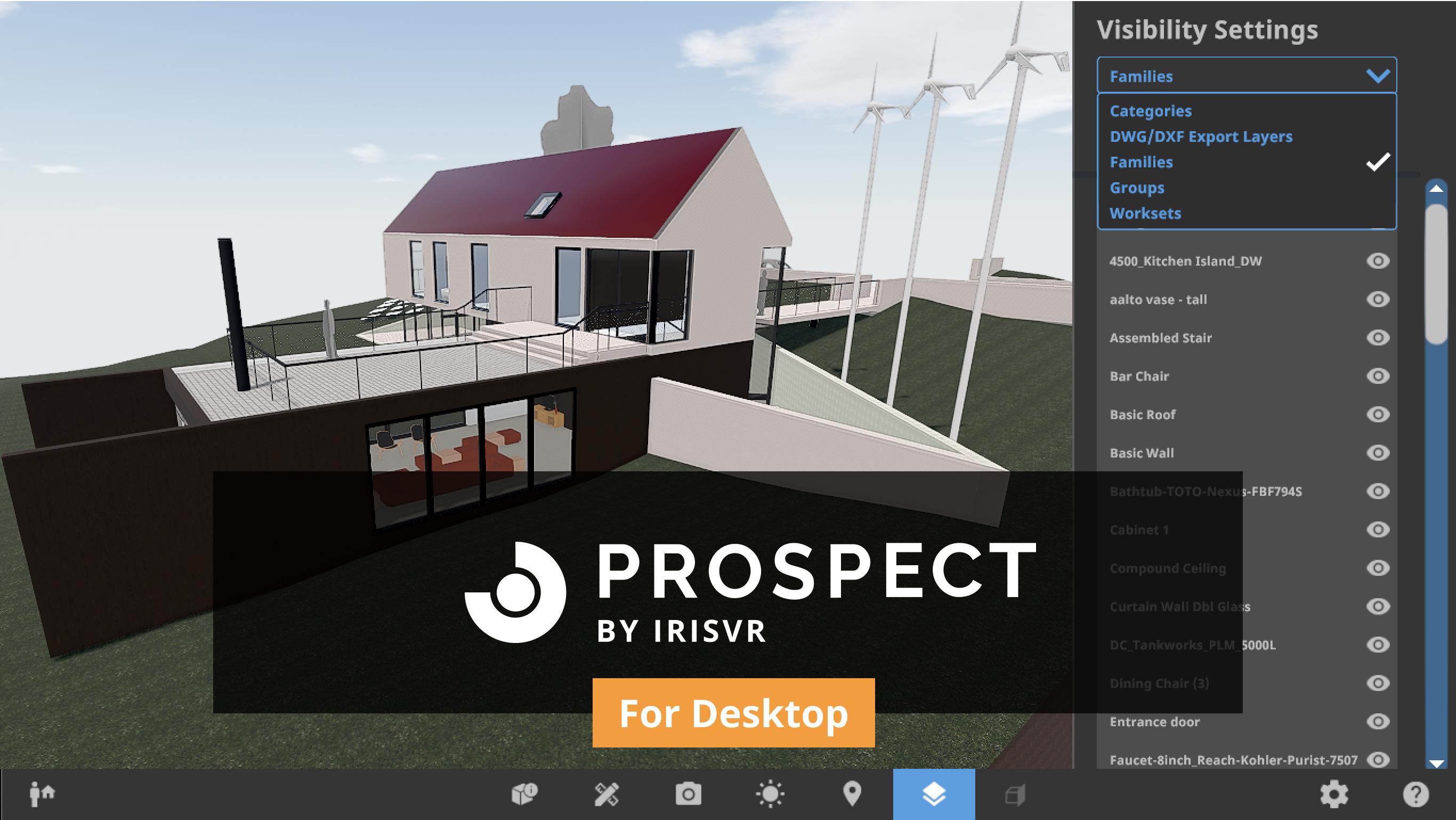 Prospect for Desktop BIM Geometry Visibility