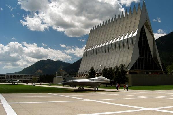 USAFA Cadet Chapel                                                (Image courtesy:http://inthefold.autodesk.com/.a/6a017c3334c51a970b01a73ded9370970d-pi)