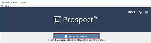 Import button in the Prospect Library