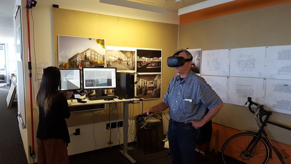 Immersive review at the office of  ZGF Architects  in Seattle, WA. Image Courtesy of ZGF Architects.